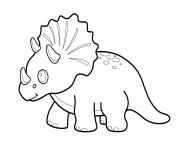 Printable Little Triceratops coloring pages