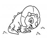 Printable Triceratops kid coloring pages