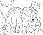 Printable Cute triceratops coloring pages
