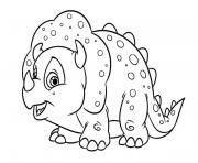 Printable Little Triceratops Baby coloring pages