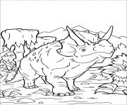 Printable Triceratops Dinosaur coloring pages