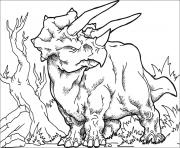 Printable Huge triceratops coloring pages