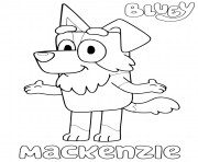 Printable Mackenzie from Blueys coloring pages
