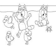 Printable Bluey on the Beach coloring pages