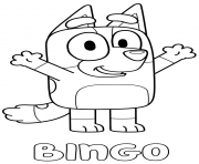 Printable Red Heeler Bingo coloring pages