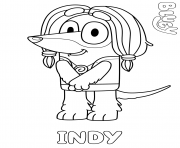 Printable Afghan Hound Indy coloring pages