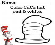 Cat Hat Color Cats Red White