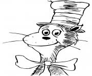 Dr Seuss Cat in the Hat Pencil Drawing
