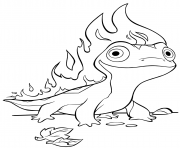 Printable Frozen 2 Fire Salamander Bruni coloring pages