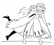 Printable Anna and Elsa Hugging coloring pages