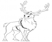 10 baby sven frozen coloring page, sven and kristoff coloring ... | 148x180