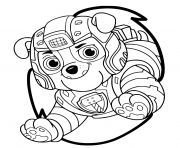 Printable Mighty Pups Rubble Bulldog coloring pages