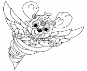 Printable Mighty Pups Flying Skye for Kids coloring pages
