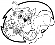 Printable Mighty Pups Rocky coloring pages