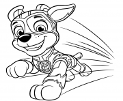 Printable Paw Patrol Mighty Pups Chase coloring pages