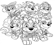 Printable Mighty Pups Charged Up coloring pages