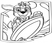 Printable Zuma Mighty Pups coloring pages