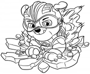 Printable Mighty Pups Rubbles coloring pages