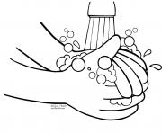 wash hands kids coloring pages