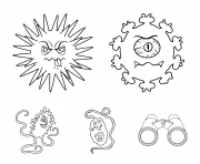 different types of microbes and virus Covid 19 coloring pages