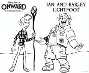 Printable Onward Barley and Ian coloring pages