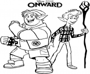 Printable Onward Barley and Ian ready for the adventure coloring pages