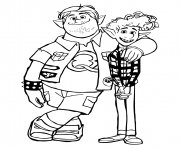 Printable Onwards Elves coloring pages