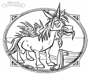Printable Onward Winged Unicorn coloring pages