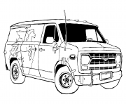 Printable Van from Onward coloring pages