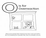 O is for Overreaction