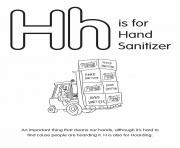 H is for Hand Sanitizer
