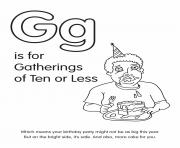 G is for Gatherings of0 or Less