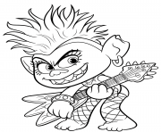 Printable Trolls 2 World Tour Barb coloring pages