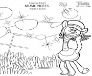 Printable Trolls 2 World Tour Hidden Elements Game coloring pages