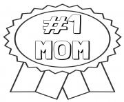 Printable mothers day number mom ribbon coloring pages