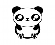 Printable kawaii panda coloring pages