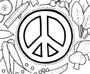 Peace Sign Vegetables