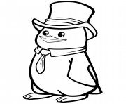 polar penguin with a top hat