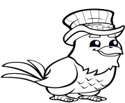 funny eagle with top hat