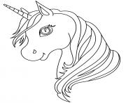 Printable Unicorn Head cute simple coloring pages