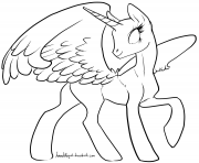 Printable alicorn cute baby coloring pages