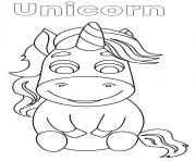 Printable Cartoon Unicorn for kids coloring pages