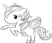 Printable alicorn kawaii for girls coloring pages
