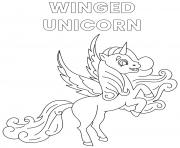 Printable winged unicorn alicorn coloring pages