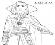Printable doctor strange pocahontas disney avengers coloring pages