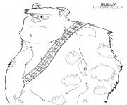 Printable chewbacca sulley disney star wars coloring pages