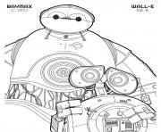 Printable bb 8 wall e and c 3po baymax disney star wars coloring pages