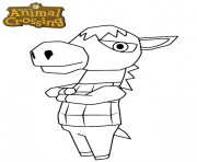 Printable donkey animal crossing coloring pages