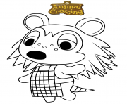 Printable animal crossing sable coloring pages