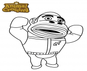 Printable gorilla animal crossing coloring pages
